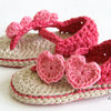 Carefree crochet sandals by Croshka Designs