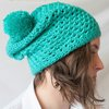 Ashleigh super slouchy pompom beanie by needle nerds