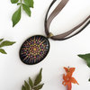 Hand-Painted Glass Pendant by Copper Fox Handmade