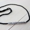 Choker Black with Silver Tube by Felicità Trending