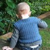 Handmade crochet vest 0-3 months by Croshka Designs