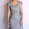 Grey fit & flair dress  by VKG