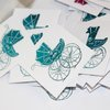 FOILED TOPPERS-BABY-TEAL by Timeless Memories