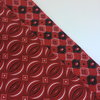 Pocket Square- Reversable- Red by All Things Shweshwe