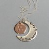 "Silver Necklace ""I love you - to the moon & back"" by GK Jewellery"