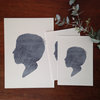 Hand-Illustrated Silhouette Portrait + 3 ART PRINTS by Fox & Bloom
