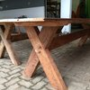 Refurbished Oregon Pine tables  by Antiques Alive