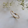 9ct gold Curved Twisted Stack Ring by Mignon Daubermann Jewellery Design