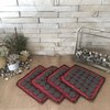 Hot Pot Mats -  Red and Black by Kurula
