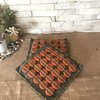 Hot Pot Mats -  Grey and Orange with a touch of yellow by Kurula