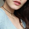 Gold Drop Choker - Black Rubber - Raw Brass - 90s style  by Minkykitten
