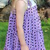 Purple and Lilac African layered dress Age 5 - 6 by JaxStar Handmade Clothing and Home