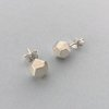 Silver Faceted Stud Earrings by GK Jewellery