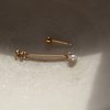 PAIR - Alternative Bridal Jewellery, Cubic Zirconia and Gold Filled  by Minkykitten