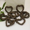 10x Brown vine hearts by Timeless Memories