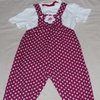 Pink and white African print toddler / baby dungarees  by JaxStar Handmade Clothing and Home