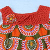 Orange and green cotton summer dress for girls Age 3-4 by JaxStar Handmade Clothing and Home