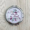 Wedding Compact Mirror by Polkadot Box