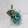 Wrist Corsage-02 Ocean mist and lily by Timeless Memories