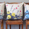 """Jellybeans"" cushion cover in duck-egg, papaya and charcoal by i Spy"