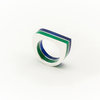 Green and blue Accent ring by Made of Mettle