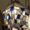 Hanging Stained Glass Lantern by Glass Cuttings