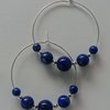 Lapis lazuli & sterling silver hoop earrings by Ochre