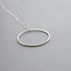 Sterling Silver Large Wire Circle Pendant by Liwo Design