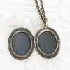 Antique bronze oval shaped vintage style photo locket necklace (LB30) by Heart Jewelry Creations