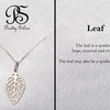 Pretty Silver Leaf Pendant by Pretty Silver Collection by Havilah Designer Jewellers