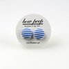 Light Blue And White Striped Button Earrings by Bow Peep