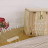 Light Wood Personalized Wooden Card Box by Papermoon