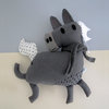 Giddy up! Light Grey Horse Plush Toy by Earfftopia