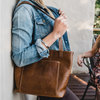 Lilah - Leather Handbag  by Wanderer Handcrafted Leather (Pty) Ltd