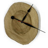 Clock - wood tree slice by Miss Magpie