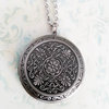 Large Antique Silver Photo Locket Necklace (LS15) by Heart Jewelry Creations