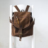 All spice Leather backpack by Mandara