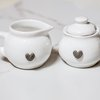 Milk & Sugar Set with Glass Hearts by ADJANi