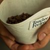 3 Reusable wedge shaped cotton coffee filters for POUR OVER coffee by Touchee Feelee