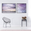Mesmerized by the Ocean Print Set | 60x60cm & 60x90cm | Collection 1 | Wall Art Home Decor | Beach | Seas | Waves | Clouds | Sunset | Birds Flying | Purple | Blue | Skies by Sonny Mo Arts