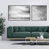 Mesmerized by the Ocean Print Set | 60x60cm & 60x90cm | Collection 1 | Black and White | Monochrome | Wall Art Home Decor | Beach | Seas | Waves | Clouds | Sunset | Birds Flying | Purple | Blue | Skies by Sonny Mo Arts