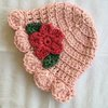 Crochet Miss Muffet beanie in cotton and bamboo (baby sizes) by Buglets by Barbs