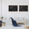 Moody Leaves Print Set | Collection 7 | A1 | Wall Art Home Decor | Leaves | Foliage | Botanicals | Navy Blue | Nature | Wood | Neutral by Sonny Mo Arts