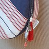 Nautical stripe circle bag by Heavenly Handmade