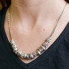 Silver Metal Necklace by Tam Cam Creatives