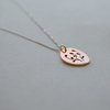 Botanical Collection Copper Oval Pendant by Liwo Design