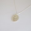 Botanical Collection Sterling Silver Oval Pendant by Liwo Design