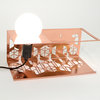 Transforma - Copper Bedside Book Shelf with Light Fitting by Leg Studios
