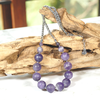 Atenea handmade Natural frosted amethyst necklace on stainless steel - February birthstone by ATENEA