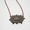 Oxidised sterling silver small pendant Two by Jolene Kritzinger Original Jewellery